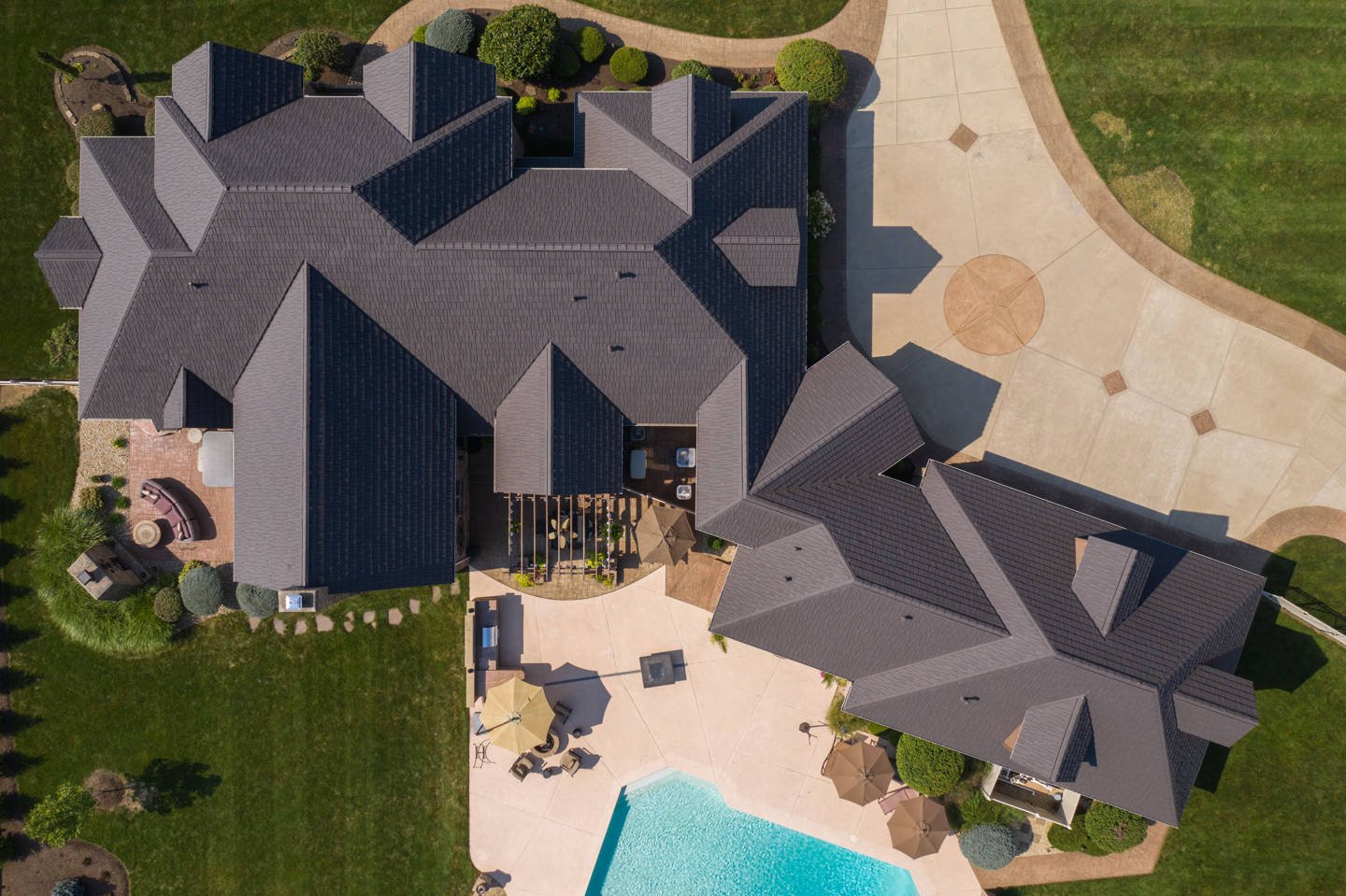 roof remodel from above