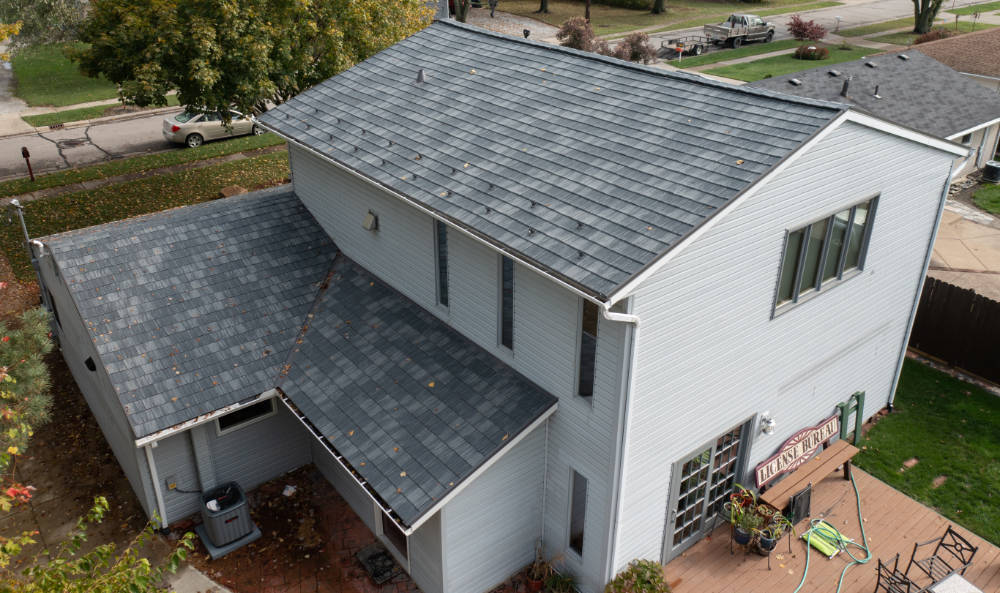 metal shingle, Oxford Slate Rock by Classic Metal Roofing Systems